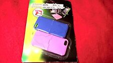 IPHONE 5 STAND COVER 2PC 2.4'' X 5'' BLUE 7 PINK COLOUR NEW