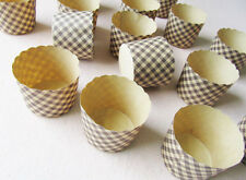 50 PCS Brown Muffin Cake Baking Paper Cup Cake Tray Party Wedding Ice Cream Tool