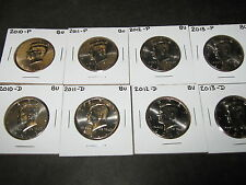 2009 2010 2011 2012 2013  P  D  KENNEDY HALF DOLLARS FROM MINT ROLLS (10 Coins)