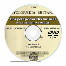1911, 11th and 12th Edition Encyclopedia Britannica, Classic Encyclopedia DVD!