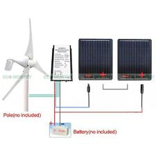 400W Wind Hybrid Turbine Generator with 90W Solar Panel for 580W 12V System Kit