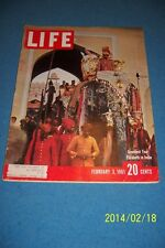 1961 LIFE Magazine QUEEN ELIZABETH In INDIA Maharaja Of Jaipur PRINCE PHILIP
