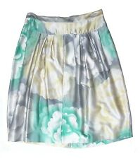 Authentic DRIES VAN NOTEN silk/cotton WATERCOLOR FLORAL skirt DE 38 US 8