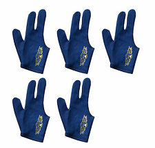 5 Champion Sport Dark Blue Right Handed Billiards Glove For Pool Cue Stick