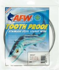 American Fishing Wire Bright Tooth Proof Stainless Steel Leader Wire 30' #9