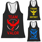 Pokemon Go Team Valor Mystic Instinct Pokeball Vest Tank Top T-shirt Costume New