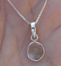 Unique Diamond Slice Necklace - Sterling Silver
