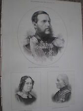 Russia Turkey war Grand Duke Constantine admiral Russian fleet 1877 print rf W