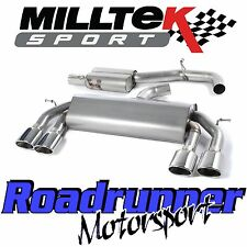 "Milltek SSXVW308 VW Golf R MK7 Exhaust 3"" Race System Cat Back Resonated Polish"