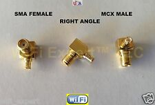 1x Angle Male MCX to Female SMA Gold Plated, For TV28T RTL2832U R820T RTLSDR SDR