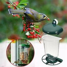 Automatic Window Wild Bird Feeder Seeds Feed Hanging Suction Cup Garden Feeding