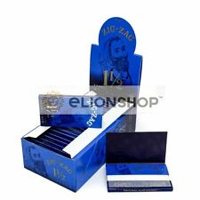 Full Box ( Zig Zag Blue Ultra Thin 1.5 1 1/2 ) Cigarette Rolling Papers