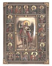 GORGEOUS Saint Michael Archangels Wall Plaque St Surrounded By Angels Icon