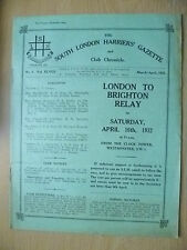 1932 Athletics Magazine-SOUTH LONDON HARRIERS GAZETTE & CHRONICLE-No3,Vol.XLVIII