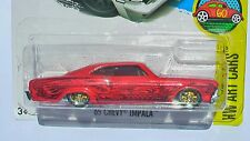 HOT WHEELS 1/64 65 CHEVY IMPALA CUSTOM PAINTED CANDY RED  AL GONZALEZ R RIDERS