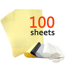 "100 Sheets Tattoo Carbon Thermal Stencil Transfer Paper 8.5"" x 11"" Master Units"