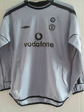 Manchester United 2001-2002 Goalkeeper Football Shirt Large Boys /39585