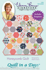 Pattern & 2 Acrylic Templates ~ HONEYCOMB QUILT  ~ Eleanor Burns/Quilt in a Day