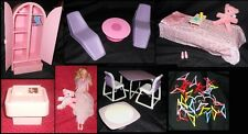 RARE Vintage 1980s Barbie LOT: Dream Furniture Collection-Bed, Table, Chairs