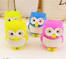 FD3706 Creative Owl Eraser Rubber Pencil Stationery Cute Stationery Gift 1pc ♫