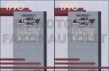 1990 Chevy CK Truck Shop Manual Pickup Cheyenne Silverado Scottsdale 454SS