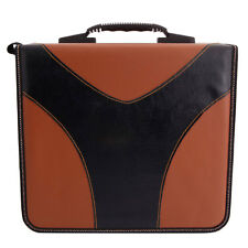 Simple yet Stylish 240-Leaf Large Capacity PVC CD DVD Storage Bag Brown & Black