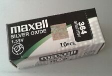 Pila MAXELL 364 - SR621SW - Made In Japan - Original - Caja De 10 Pilas -