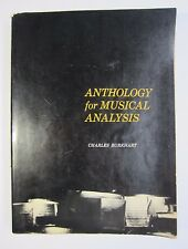 Vintage Anthology for Musical Analysis 1964 by Charles Burkhart Good Condition!