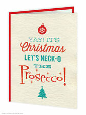 Brainbox Candy Christmas Xmas Card 'Neck-o The Prosecco' funny cheeky humour