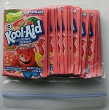 20 packets of KOOL-AID drink mix: WATERMELON flavor, powdered, UNSWEETENED