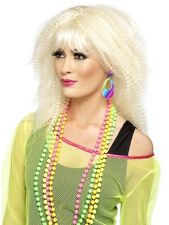 Anni 80 neon Multicolore Teardrop clicp Orecchini Costume Accessori 21175