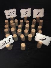 10 Table Markers Wedding Number Holders Wood Slices Stand Photo Event
