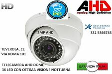 TELECAMERA AHD DOME 36 LED IR ALTISSIMA QUALITA'  2MP