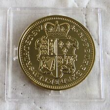 KING GEORGE II 1746 LIMA 5 GUINEAS HM GOLD PLATED SILVER PROOF FROM THE LMO