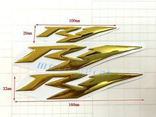 R1 Raised 3D Chrome Gold Decal Emblem Tank Sticker For Yamaha R1 2007-2013 Bling