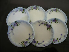 6x3.00 cm Purple Orchid Scalloped Plates  Dollhouse Miniatures Ceramic Deco