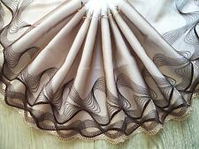 """1 Yard~7.5""""~Lace Trim Venise Embroidered Wave Line Scalloped Bridal Wedding"""