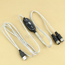 MIDI USB IN-OUT PC Music Keyboard Adapter Interface Cable Cord Line Converter