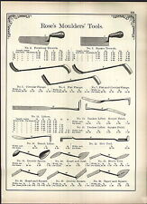1902 AD Rose's Masons Concrete Tools Moulders' Tools Tinners' Machines