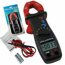 Portabe Digital Clamp Meter AC DC Current Voltage Resistance Diode Tester Tool