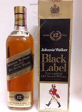 VERY OLD JOHNNIE WALKER 12YO BLACK LABEL CL 75 40°+BOX