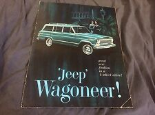 1965 1966 Kaiser Willys Jeep Wagoneer Color Brochure Catalog Prospekt