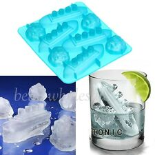 Silicone Ice Cube Shape Jelly Soap Tray Maker Mold Large Shape Party