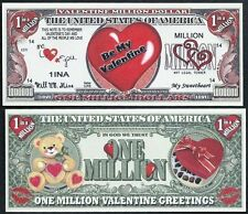 Happy Valentines' Day Heart Million Dollar Collectible Funny Money Novelty Note