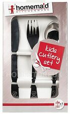 HOMEMAID CUTLERY SET KNIFE FORK SPOON STAINLESS STEEL KIDS BABY CHILDREN HM063