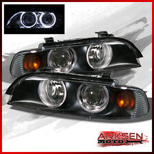 Fits BLK 97-03 BMW E39 5 Series Halo Projector Headlights Left+R Pair Lamp