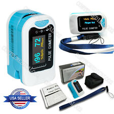 US Seller, FDA Fingertip Pulse Oximeter Spo2 Pulse Heart Rate Monitor OLED+Pouch