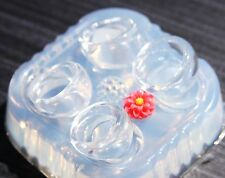 Multi-Clear-silicone Ring Molds 4 PS+1 flower,size 5, 6.75, 8, 9. (A20)