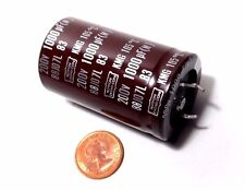 Nippon Chemi-Con 1000uF 200 VDC Electrolytic Can Capacitor 105C Power Supply MFD