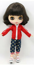 "12""Neo Blythe Doll Short Brown Hair Matte Face Nude Doll from Factory94001+Gift"